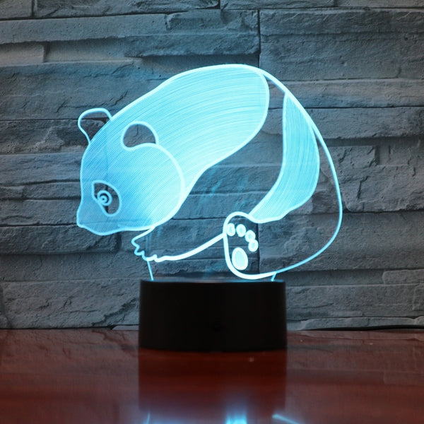 3D LED For Kids Lovely Animal Panda Touch Button USB Visual Lamp Baby Sleeping Lighting For Home Decoration Gifts Night Lights