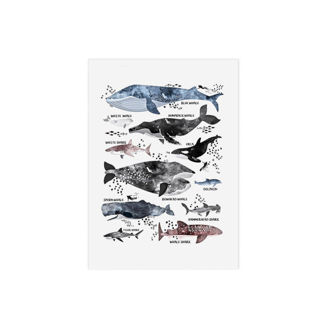 Printed Nordic Posters Wall Art Cartoon Dinosaur Shark Painting Canvas Modular Pictures Home Decoratiom Modern Baby Room Frame