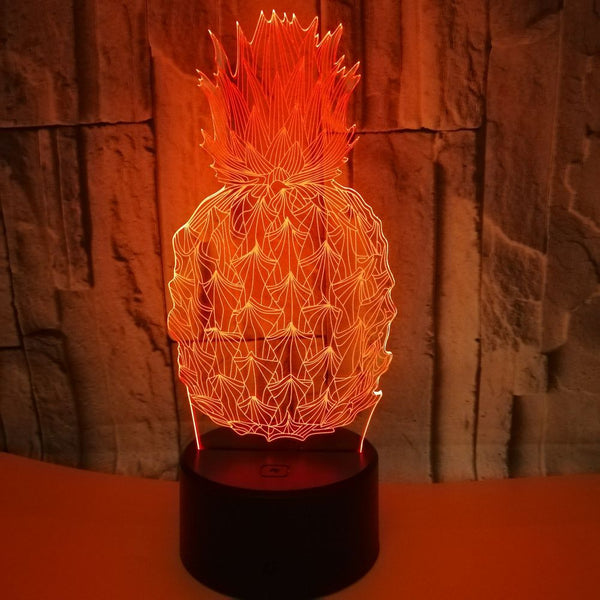 3D Led Bedside Night Light Shape Fruit Pineapple Usb Table Lamp 7 Color Change Home Decor Bedroom Sleep Lighting Fixture Gifts