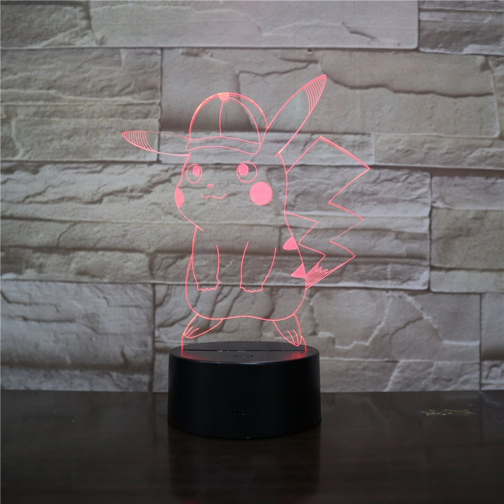 3D Led Bedside Night Light Shape Cartoon Character Usb Table Lamp 7 Color Change Home Decor Bedroom Sleep Lighting Fixture Gifts