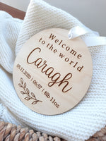 personalised baby nursery plaque