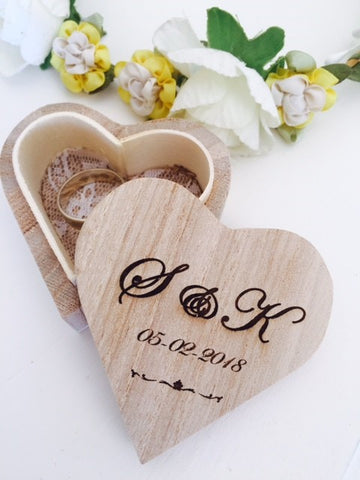 personalised wedding day ring box