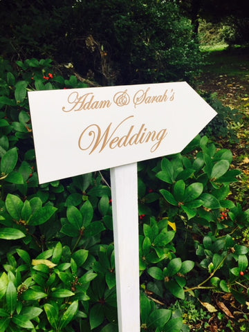 wedding directional arrow