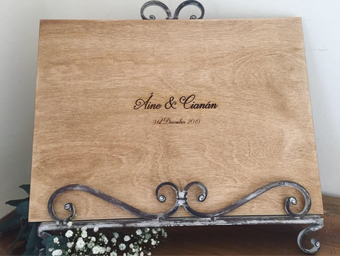 engraved wedding guest book