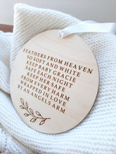 Load image into Gallery viewer, Personalised Nursery Angel Plaque