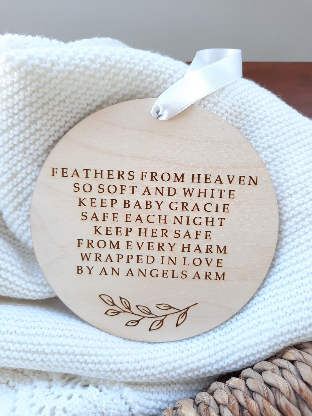 Personalised Nursery Angel Plaque