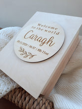 Load image into Gallery viewer, personalised newborn baby keepsake box