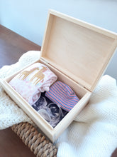 Load image into Gallery viewer, Personalsoed Wooden Baby Keepsake Box Rectangle