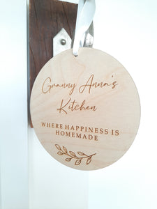 Granny's Kitchen Personalised Plaque