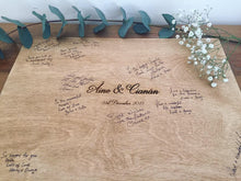 Load image into Gallery viewer, Wooden Guest Book Signing Board