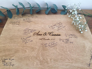Wooden Guest Book Signing Board
