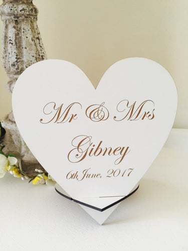 Top Table Mr & Mrs Sign