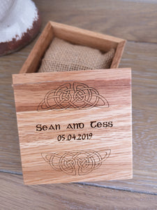 celtic irish ring box