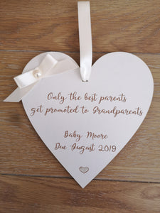 Grandparents to be Plaque