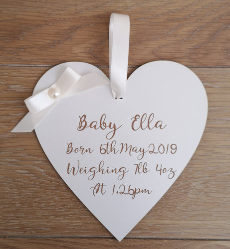 Newborn Baby Personalised Plaque