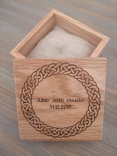 celtic irish wedding ring box