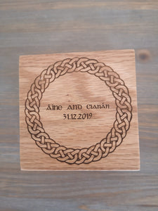 celtic engraved irish wedding ring box