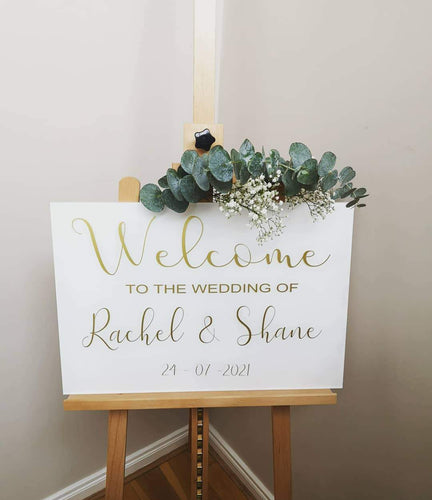 acrylic welcome wedding sign