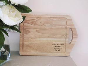 Personalised Laurel Leaf House Warming Handheld Board