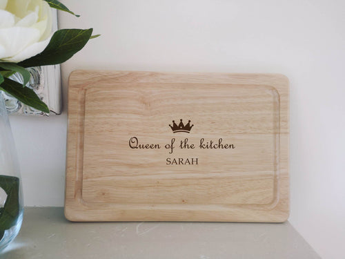 Queen of the Kitchen Personalised Chopping Board