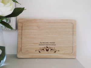 Christmas Reindeer Seasoned with Love and Joy Chopping Board