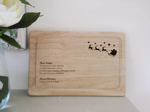 Santa Personalised treat board