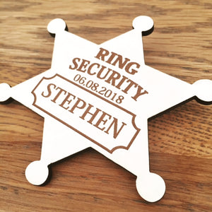 Personalised Ring Security Badge