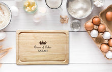 Load image into Gallery viewer, Personalised Queen of Cakes Chopping Board
