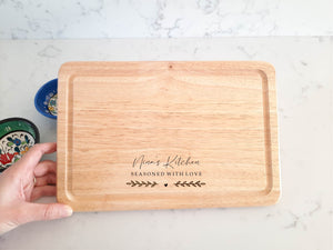 Small Personalised Seasoned with Love Chopping Board
