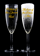Load image into Gallery viewer, Bridal Party Personalised Champagne Flute Decal