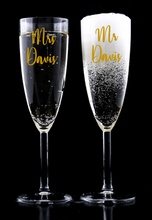 Load image into Gallery viewer, Personalised Wedding Champagne Flute Decals