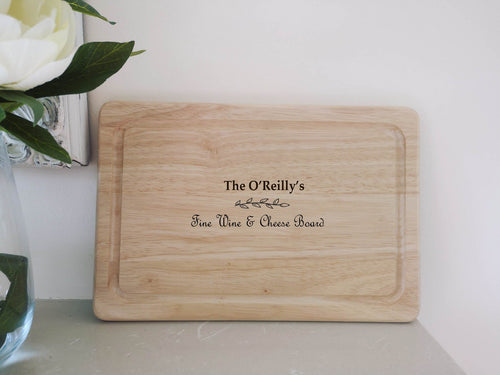 Personalised Fine Wine & Cheese Board