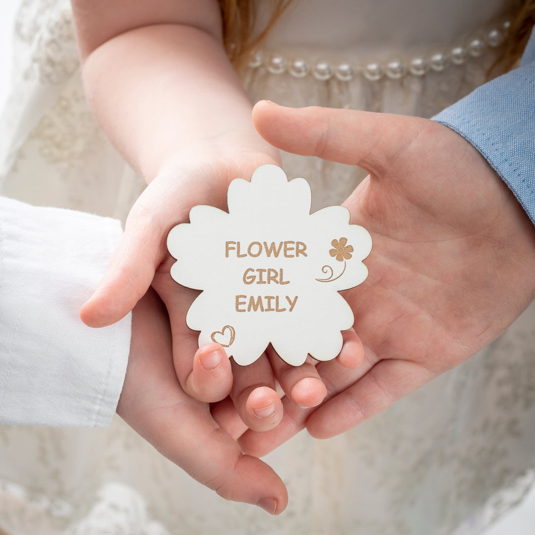 Personalised Flower Girl Badge