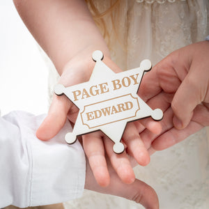 Personalised Page Boy Badge
