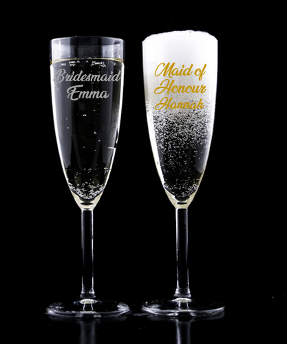 Bridal Party Personalised Champagne Flute Decal
