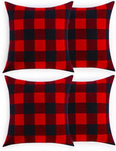 Load image into Gallery viewer, Volcanics Buffalo Check Plaid Throw Pillow Covers