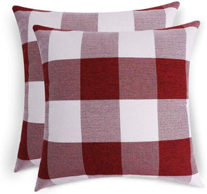 Volcanics Buffalo Check Plaid Throw Pillow Covers