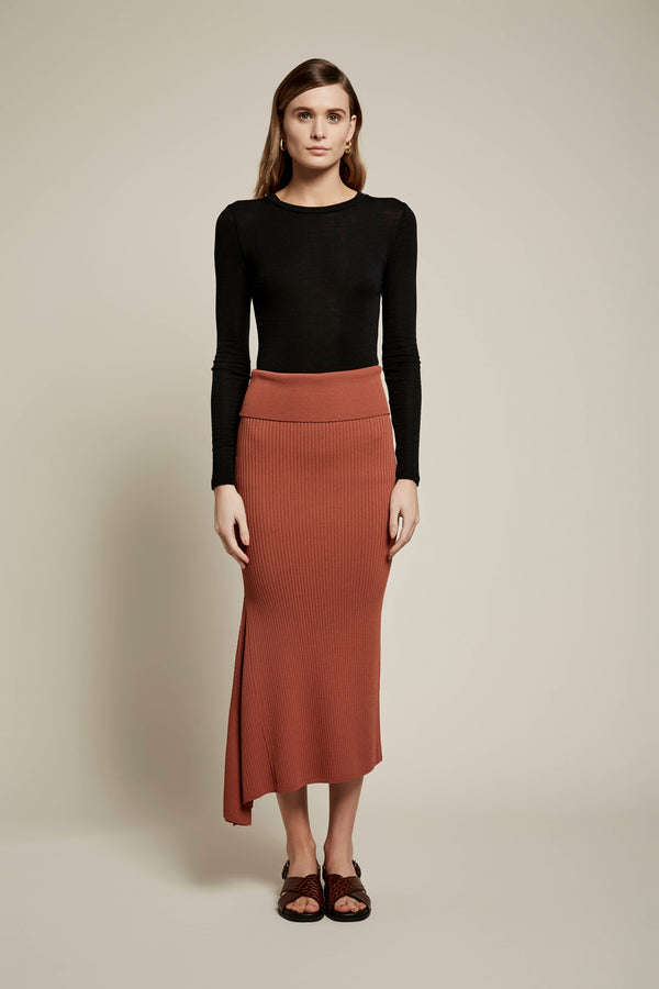 Skylar Crepe Knit Skirt