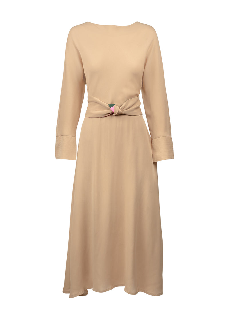 Bec Dress - Sandlewood