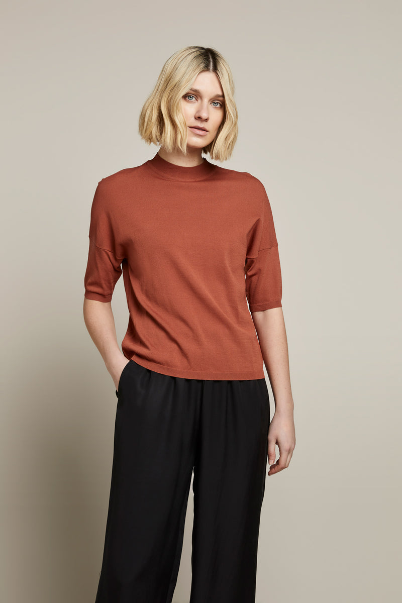 Jewel Crepe Knit Top