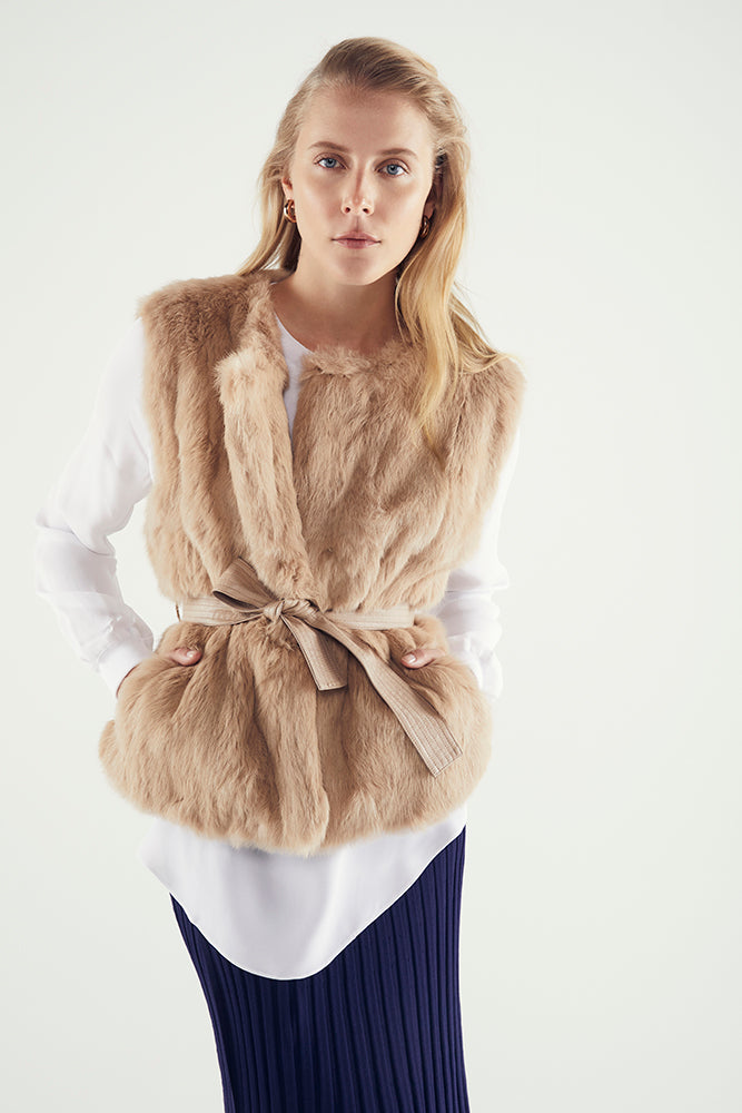 Lois Rabbit Fur Vest