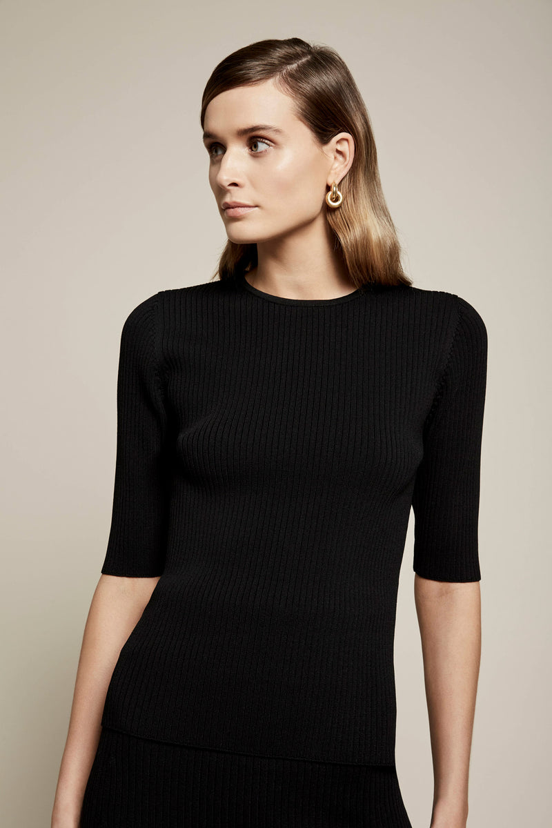 Dee Crepe Knit Top