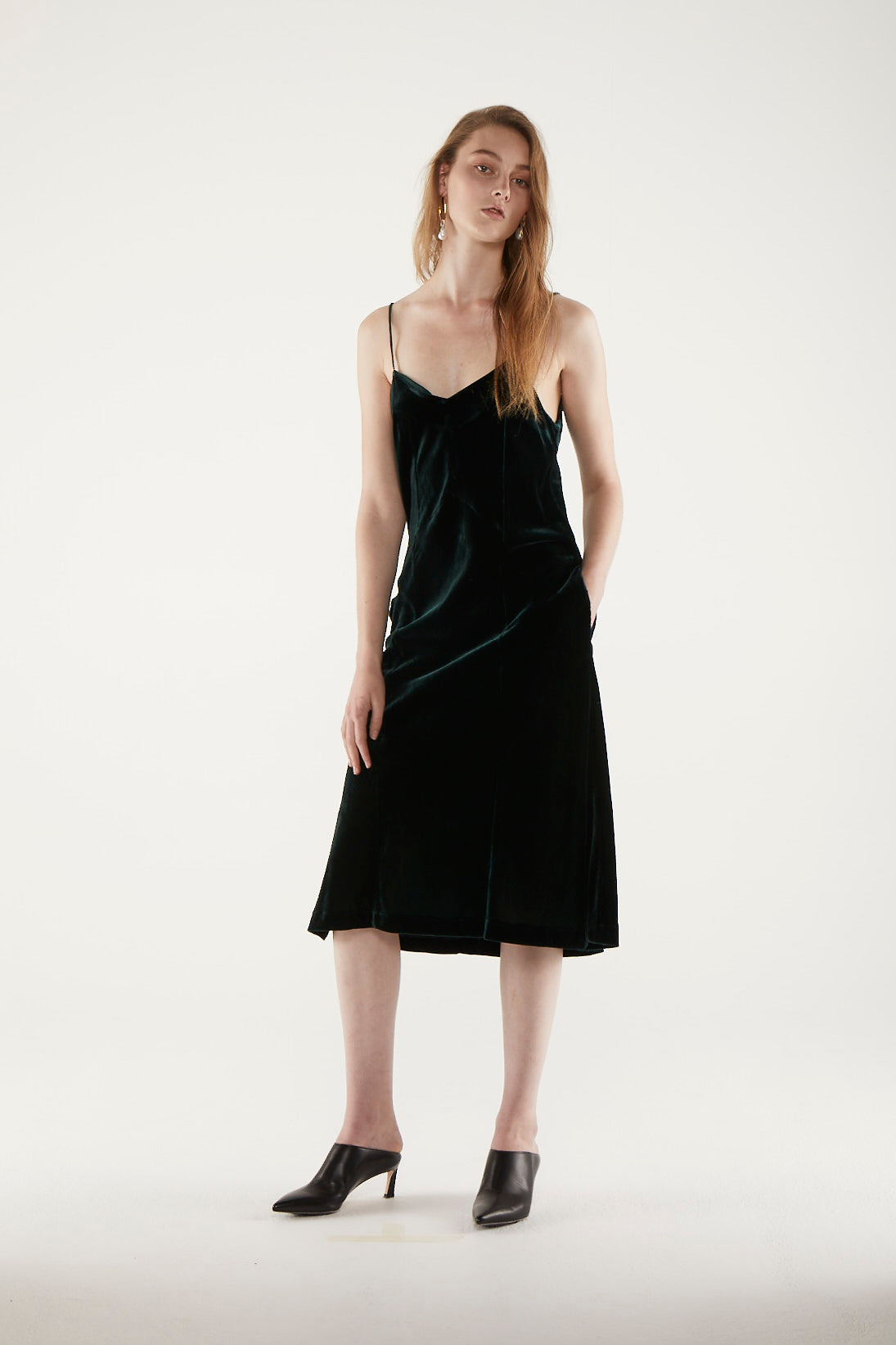 Jessie Slip Dress - Forest