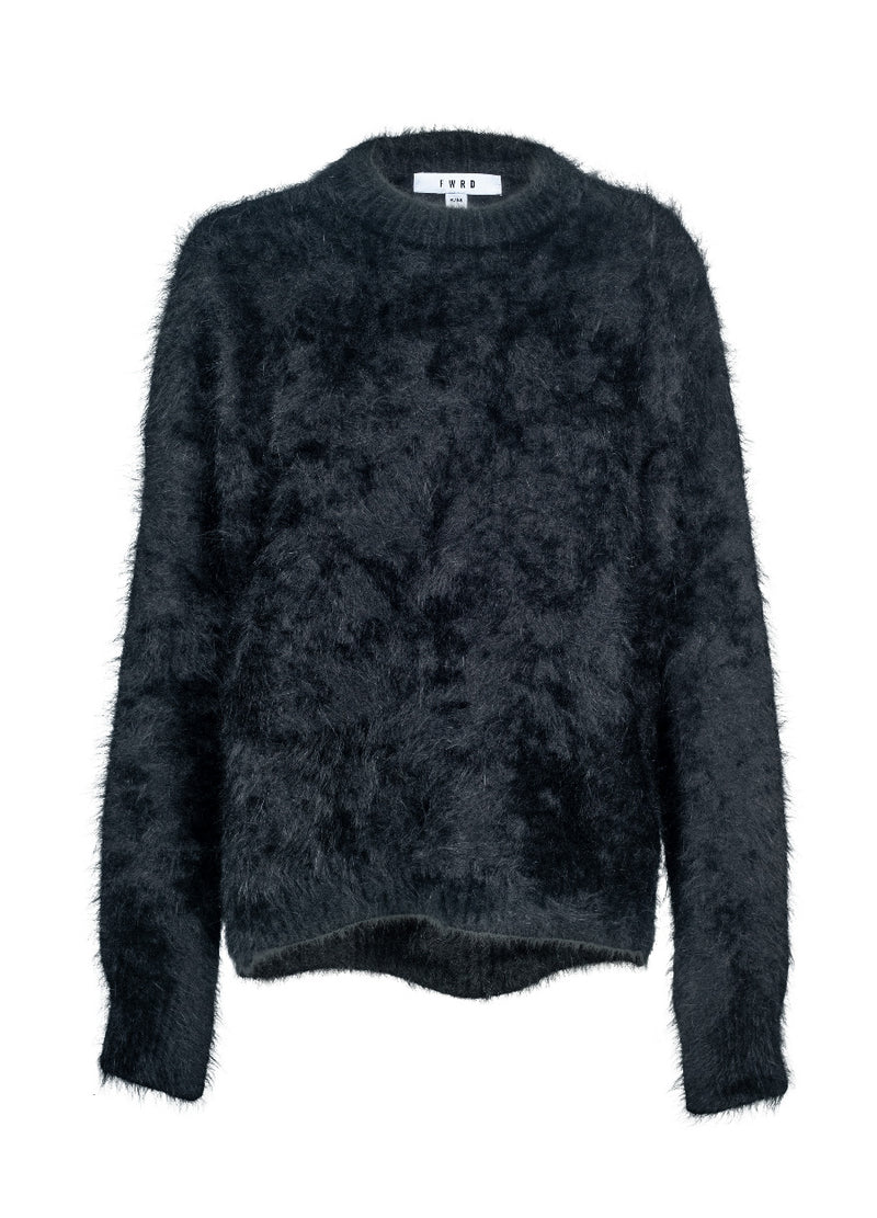Mia Angora Sweater - Black