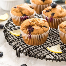 Blueberry Lemon Protein Muffins