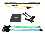 PORTABLE EXERCISE BAR WITH RESISTANCE BANDS