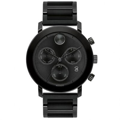 Men's Movado BOLD Evolution Chronograph Black Ion-Plated Stainless Steel Watch 3600684