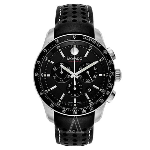 Movado Series 800 Quartz Chronograph Black Dial Men's Watch