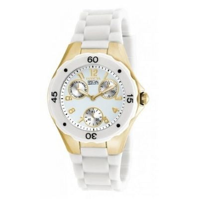 Invicta 18796 Angel 38MM Women's Chronograph White Polyurethane Watch