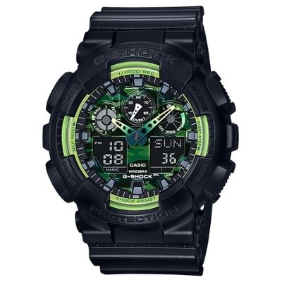 G-Shock Sporty Illumi Series: GA100LY-1A